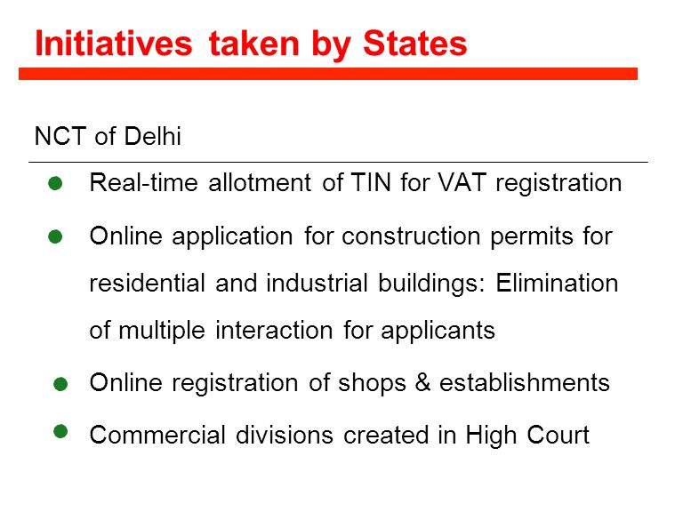 Initiatives taken by States