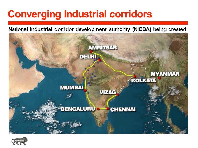 Converging Industrial corridors