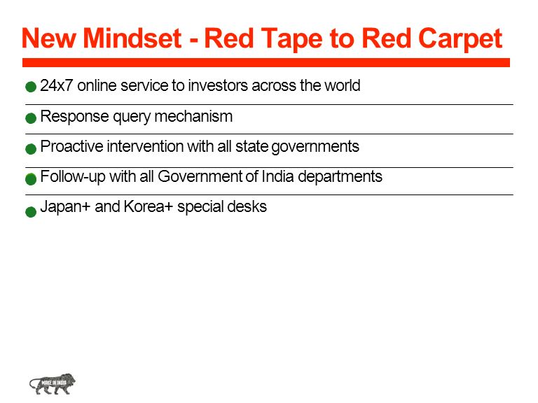 New Mindset - Red Tape to Red Carpet
