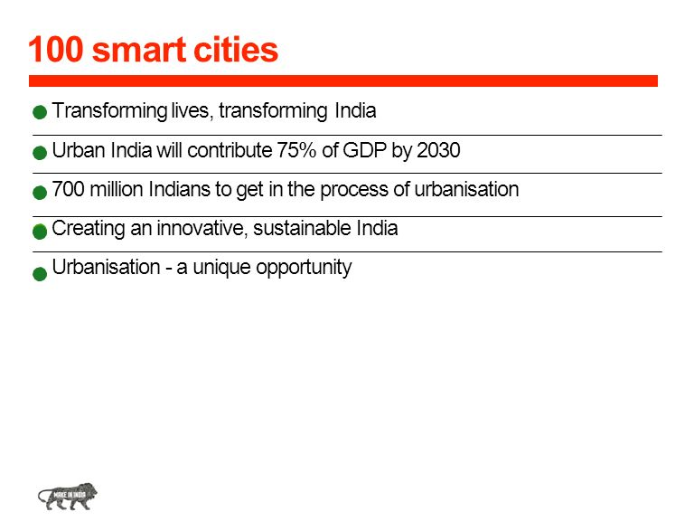100 smart cities Transforming lives, transforming India