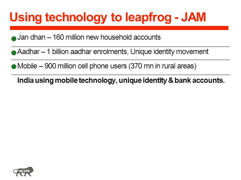 Using technology to leapfrog - JAM