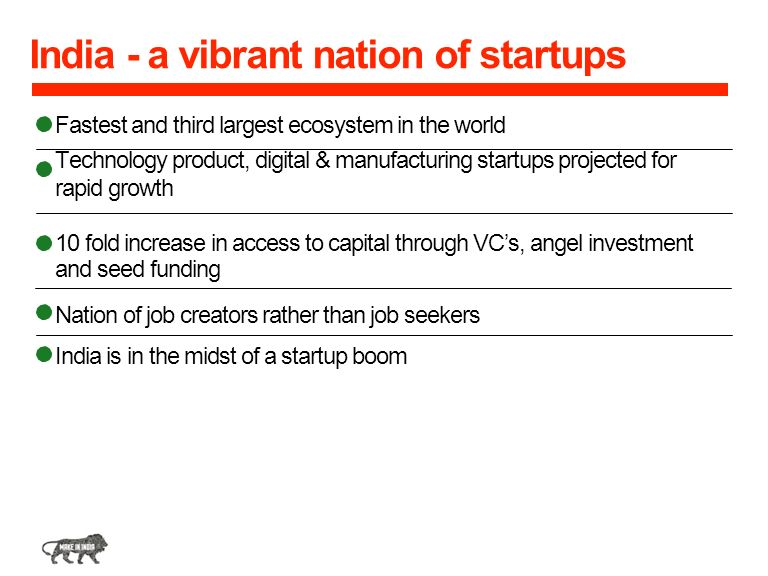 India - a vibrant nation of startups