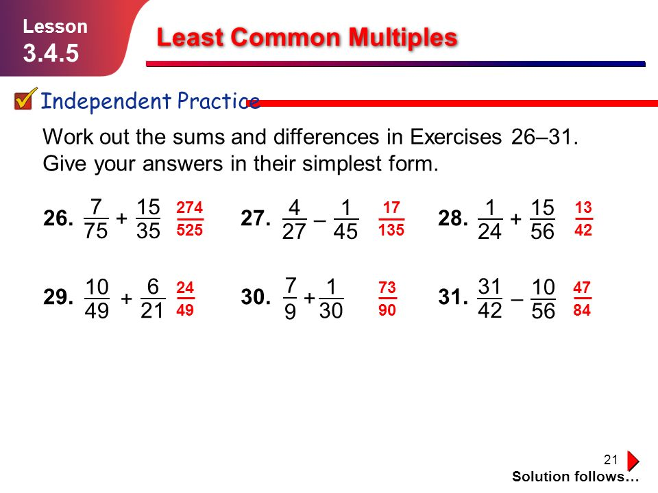 Least Common Multiples And Greatest Common Factor - ppt video ...