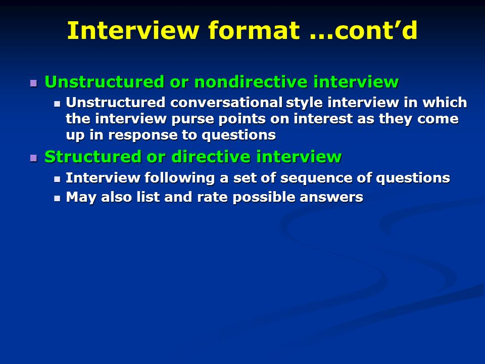 structured sequential interviews