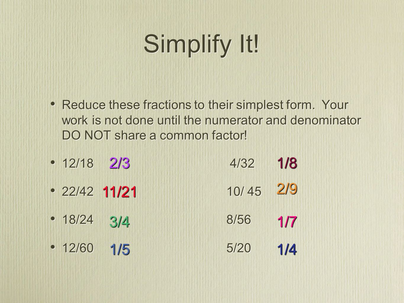Fraction Fun Time! I can add or subtract proper fractions and ...
