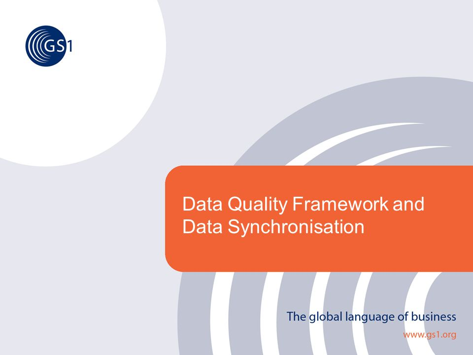 Data Quality Framework and Data Synchronisation
