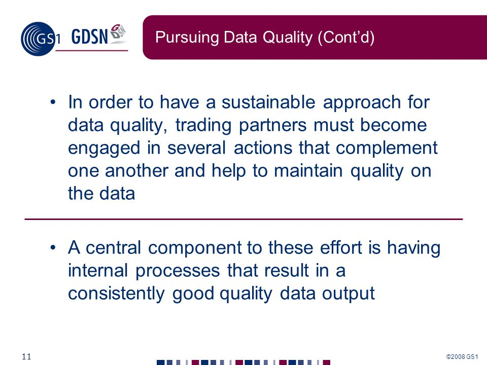 Pursuing Data Quality (Cont'd)