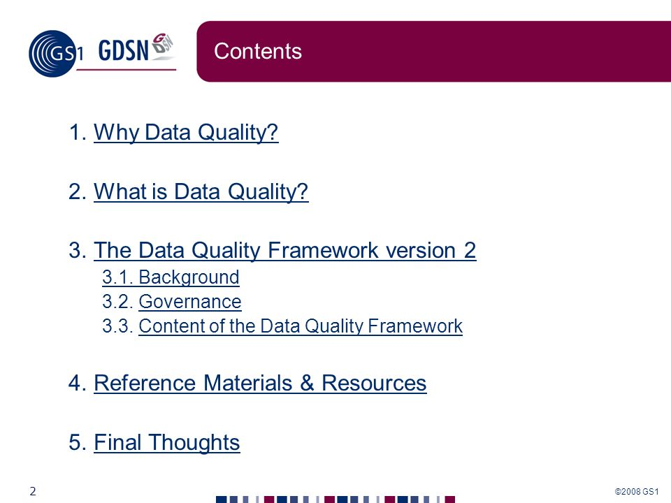 The Data Quality Framework version 2