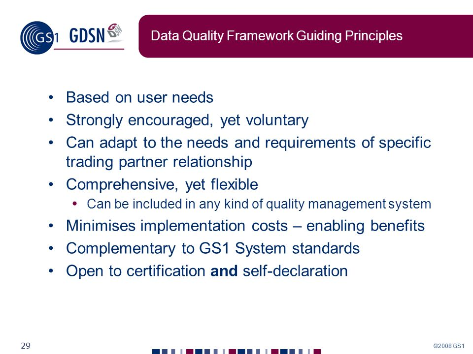Data Quality Framework Guiding Principles