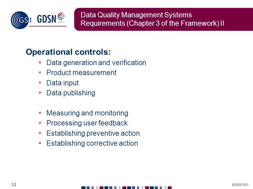 Operational controls: