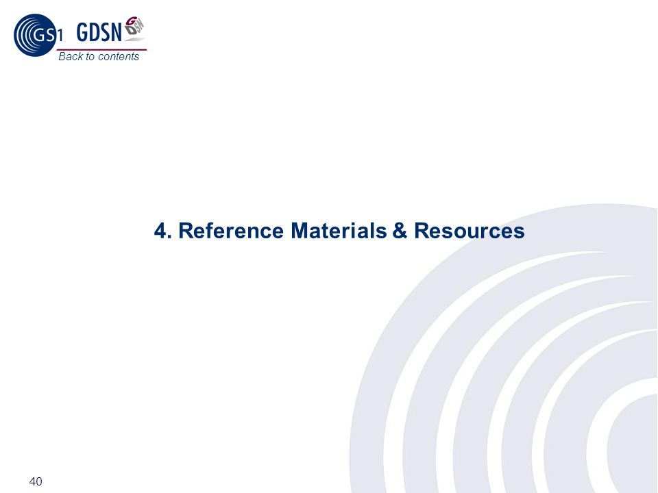 4. Reference Materials & Resources