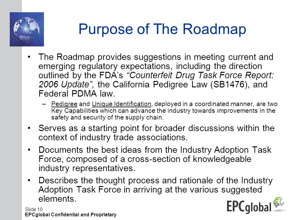 Purpose of The Roadmap