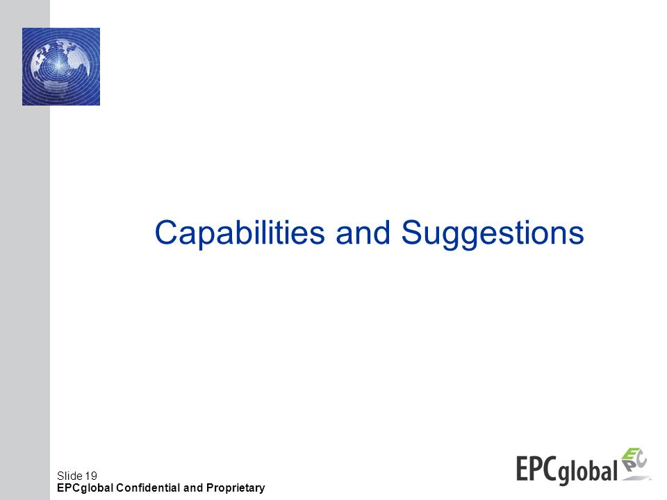 Capabilities and Suggestions