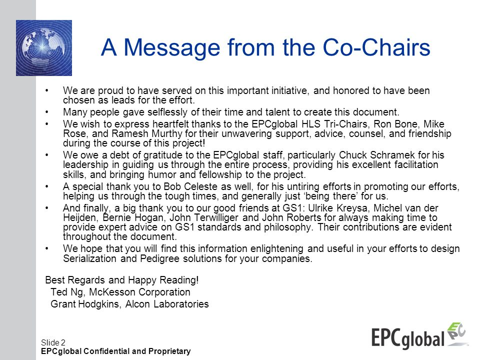 A Message from the Co-Chairs