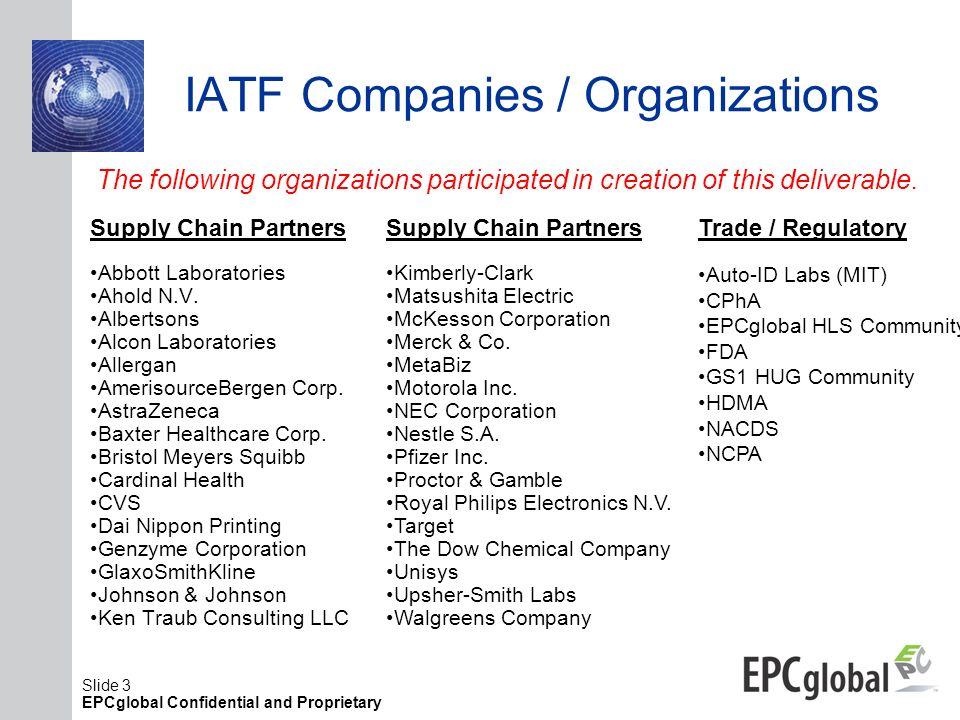 IATF Companies / Organizations
