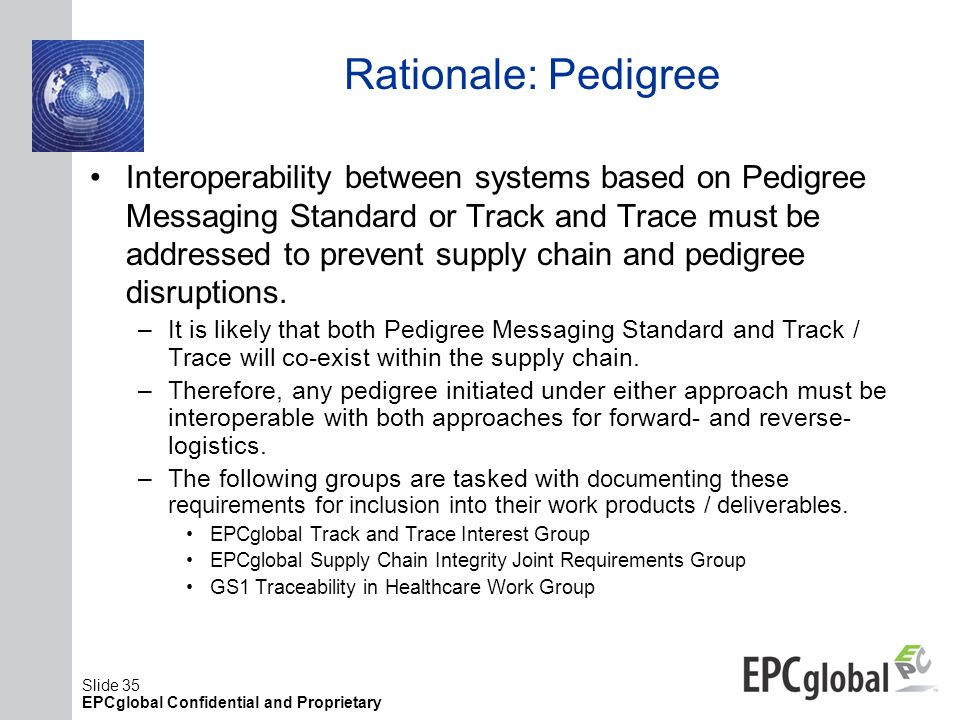 Rationale: Pedigree