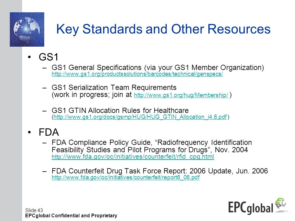 Key Standards and Other Resources