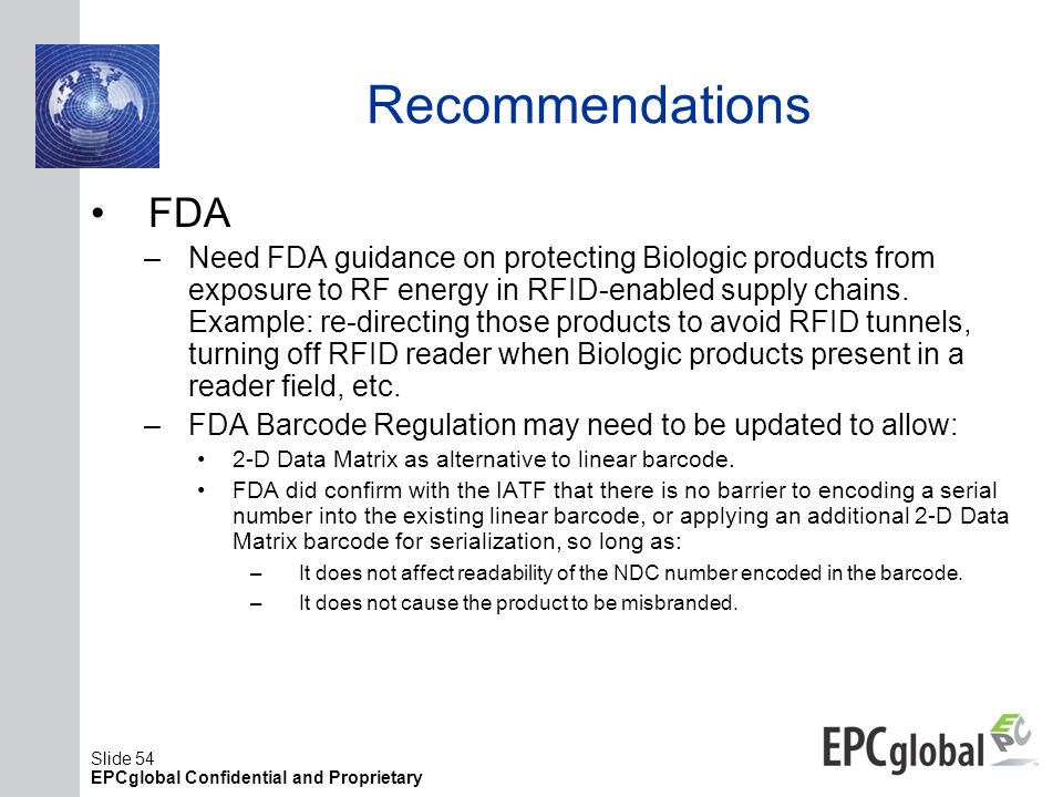 Recommendations FDA.