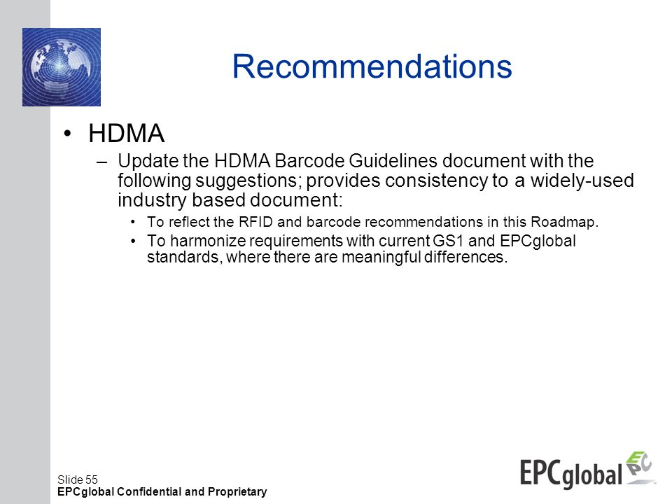 Recommendations HDMA.