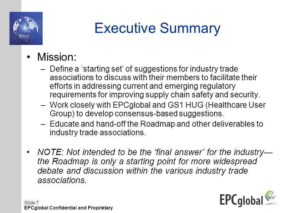 Executive Summary Mission: