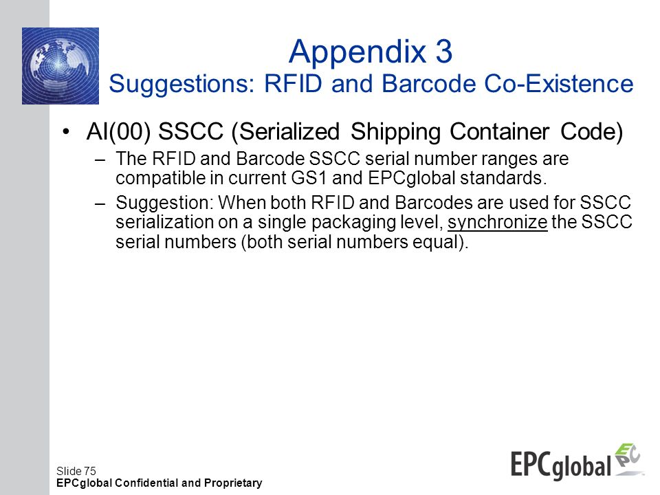 Appendix 3 Suggestions: RFID and Barcode Co-Existence