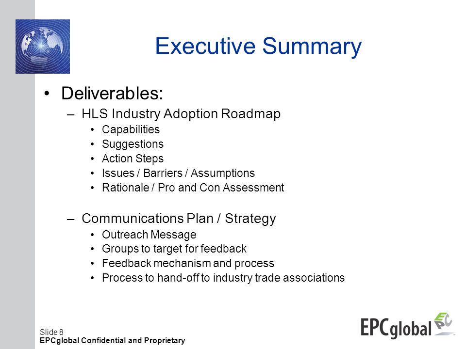 Executive Summary Deliverables: HLS Industry Adoption Roadmap