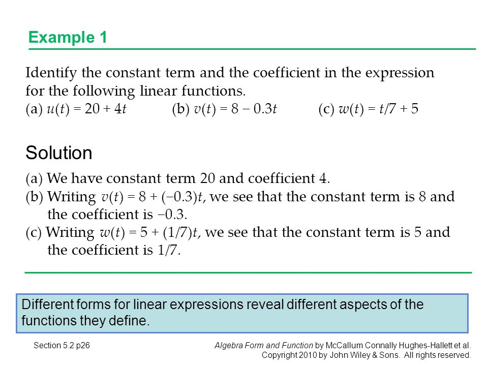 5.1 Linear Functions Section 5.1 p1. - ppt download