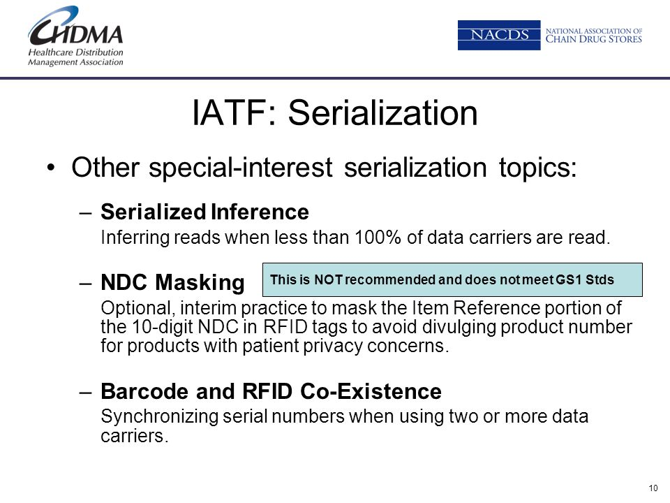 IATF: Serialization Other special-interest serialization topics: