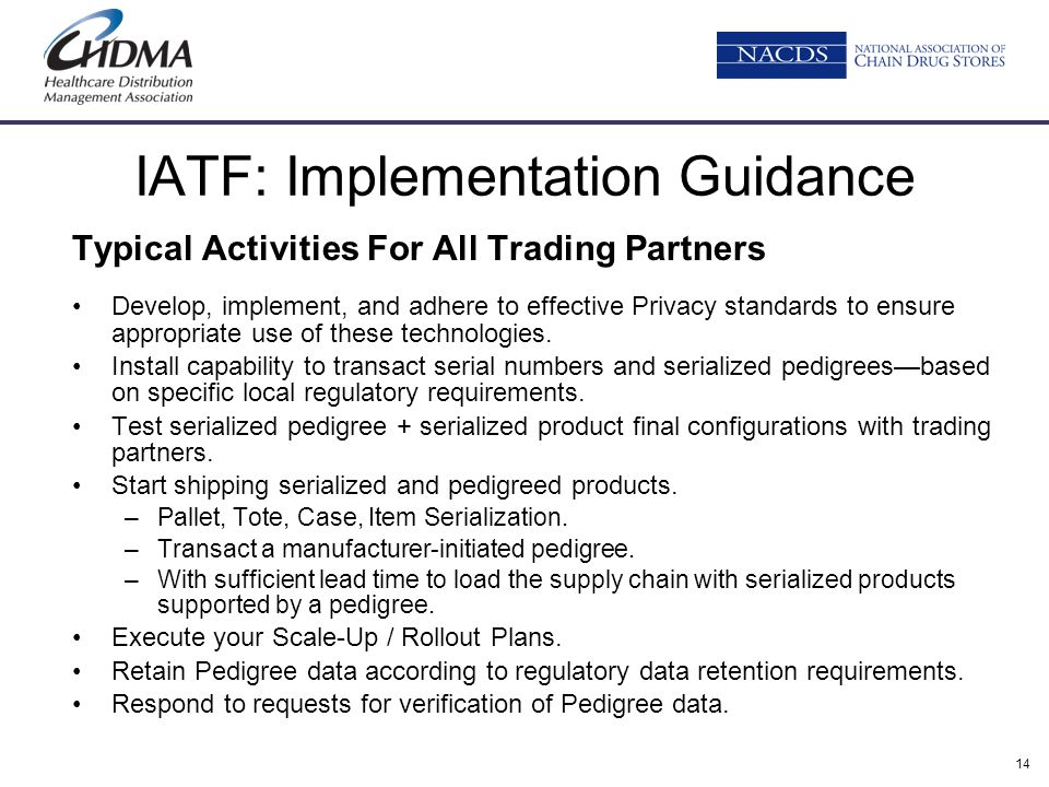 IATF: Implementation Guidance