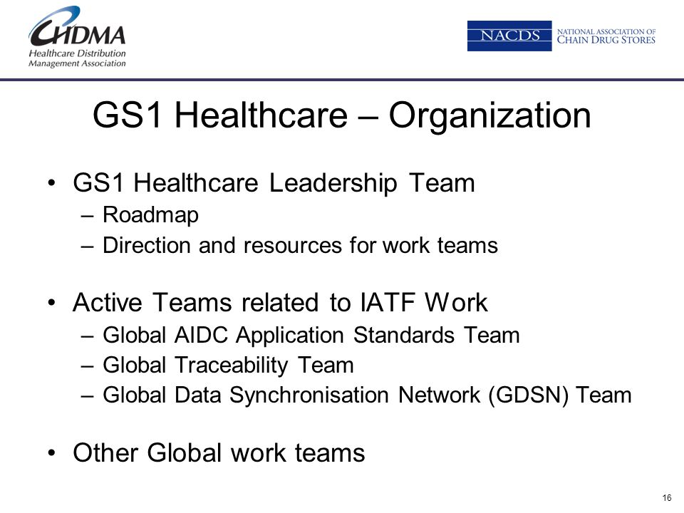 GS1 Healthcare – Organization
