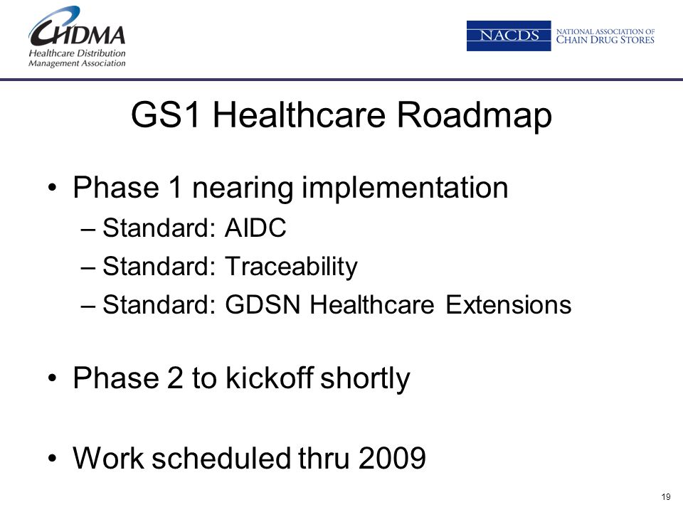 GS1 Healthcare Roadmap Phase 1 nearing implementation