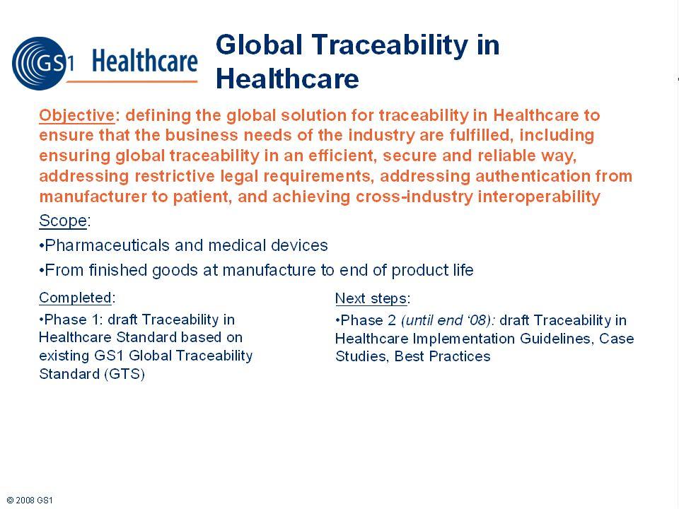 GS1 Traceability Standard
