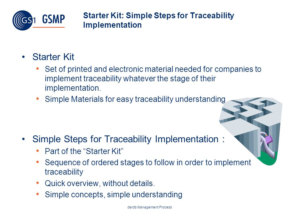 Starter Kit: Simple Steps for Traceability Implementation