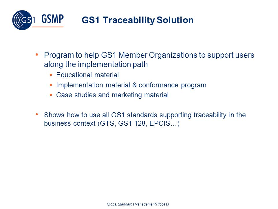GS1 Traceability Solution