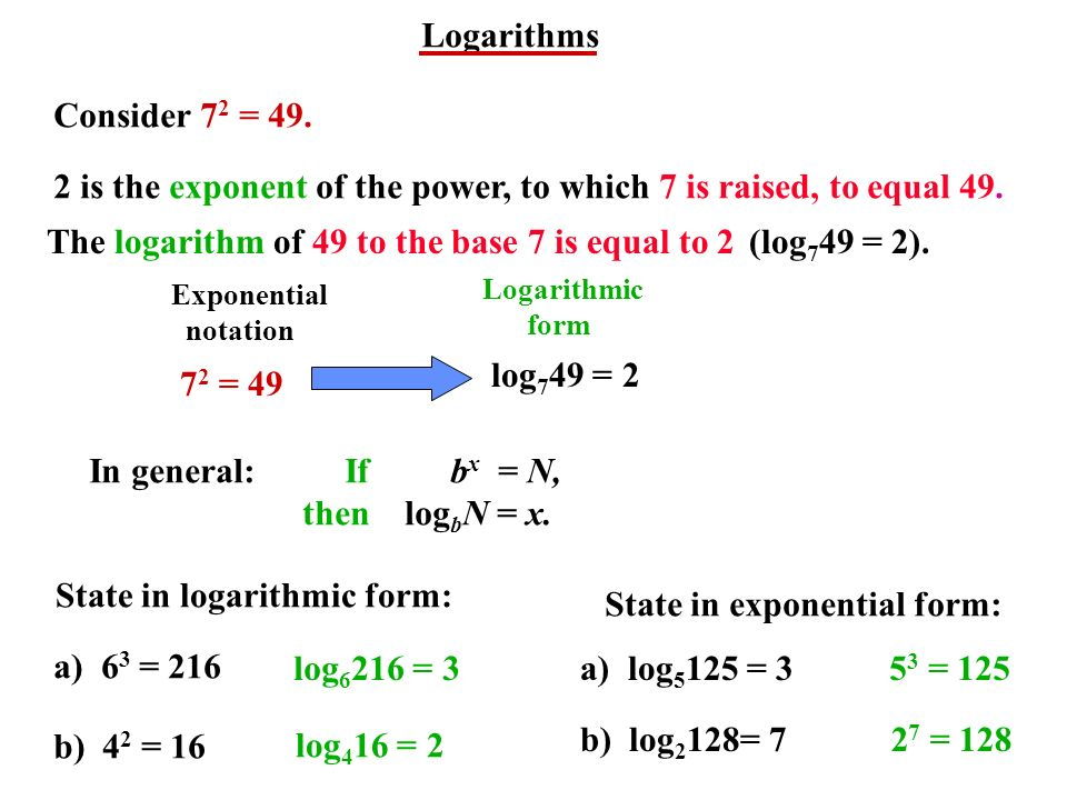Logarithms. - ppt video online download