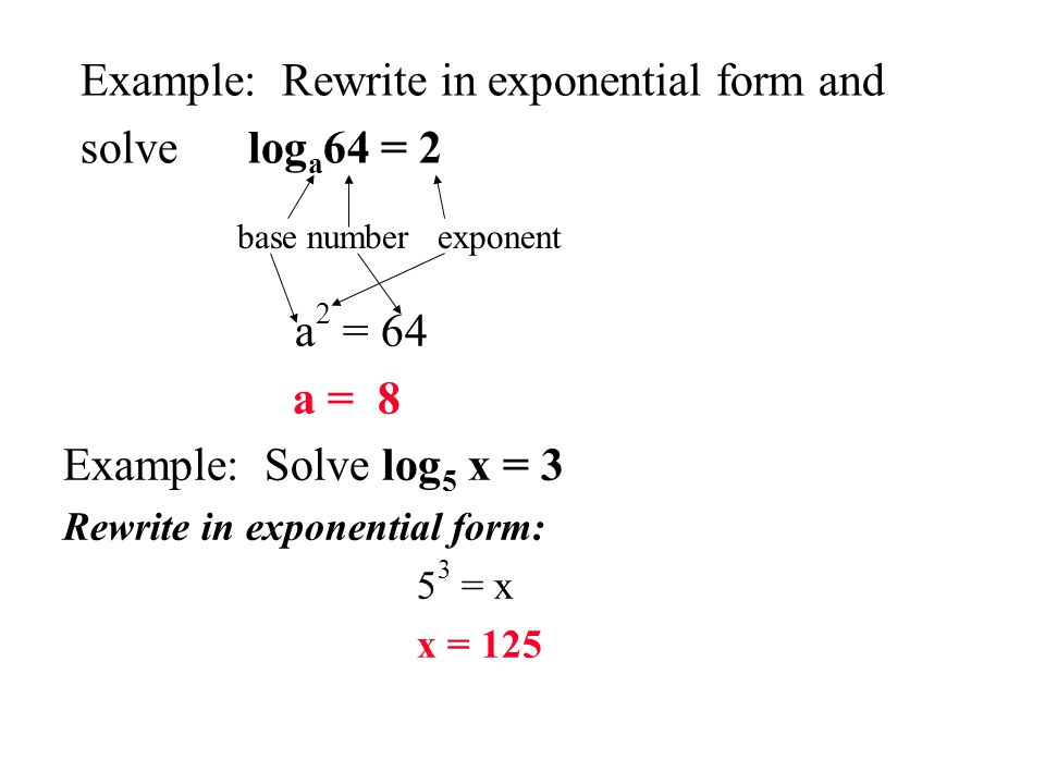 Logarithms. - ppt video online download