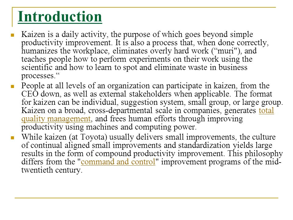 Improve Productivity With Kaizen