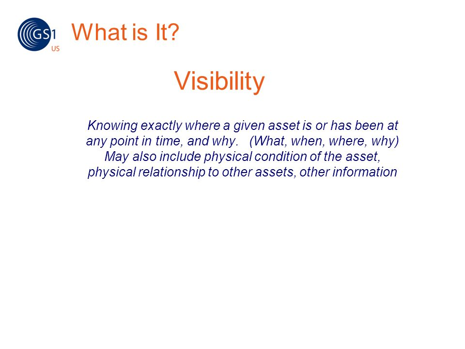 What is It Visibility.