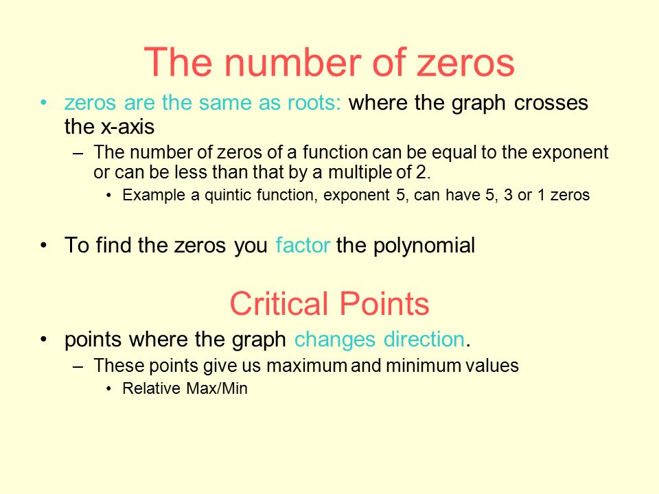 how to find zeros of two given points