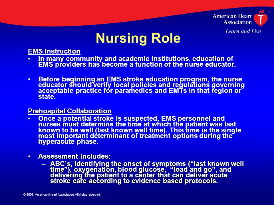 Nursing Role EMS Instruction