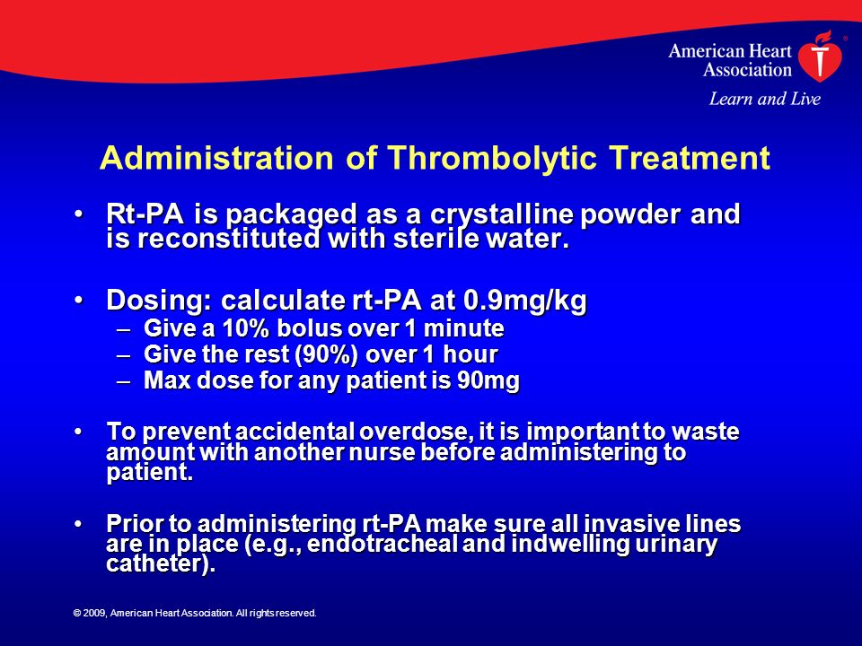 Administration of Thrombolytic Treatment
