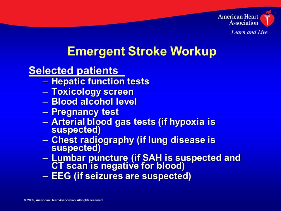 Emergent Stroke Workup