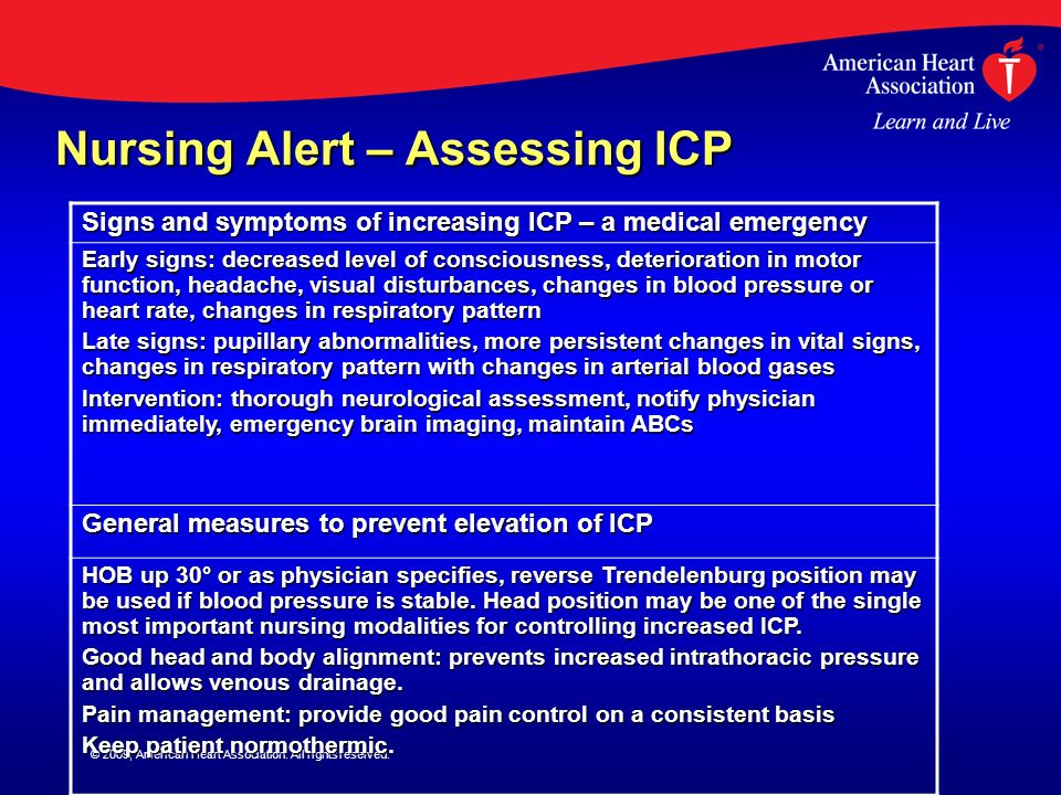 Nursing Alert – Assessing ICP