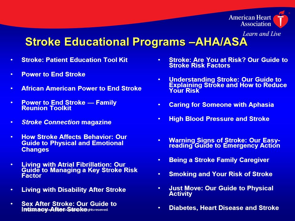 Stroke Educational Programs –AHA/ASA