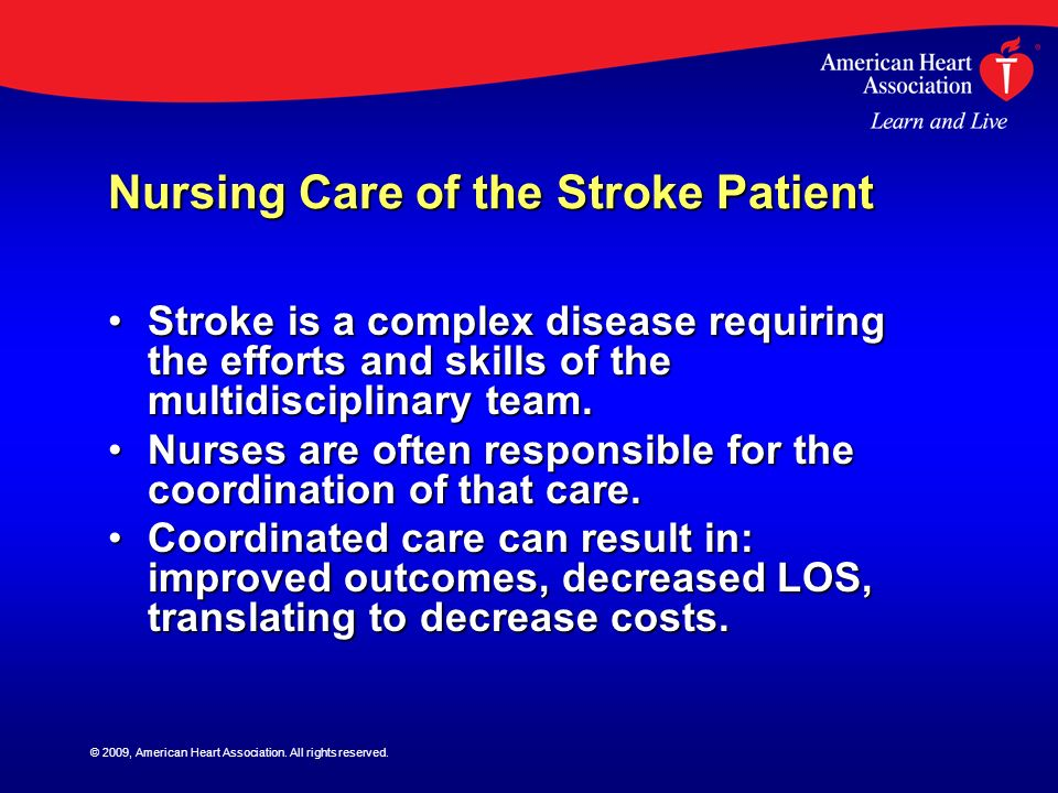 Nursing Care of the Stroke Patient
