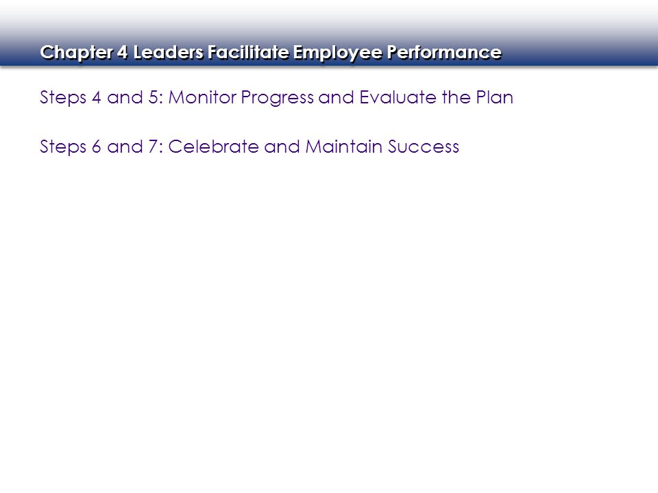 Steps 4 and 5: Monitor Progress and Evaluate the Plan