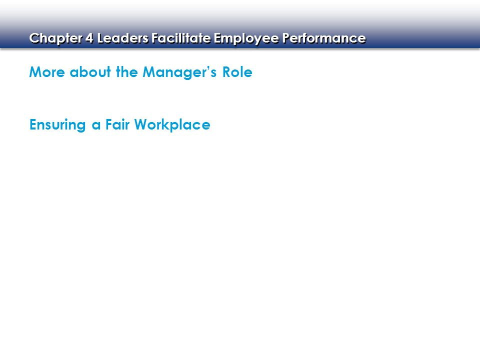 More about the Manager's Role
