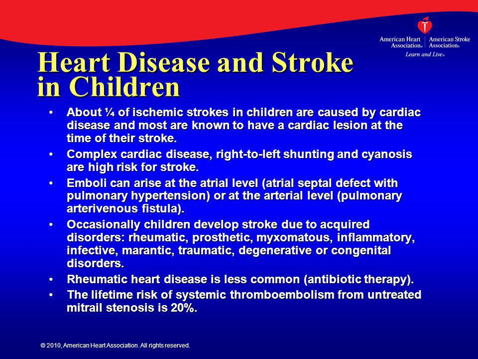 Heart Disease and Stroke in Children