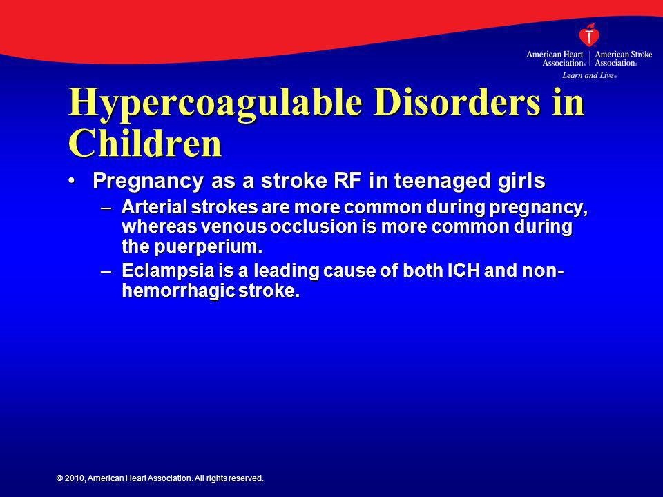 Hypercoagulable Disorders in Children
