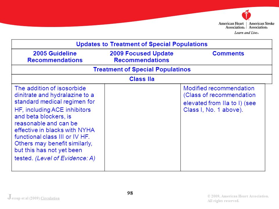 Updates to Treatment of Special Populations